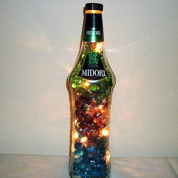 Recycled  Liquor Bottle - Accent Lighting - Decorative Bottle