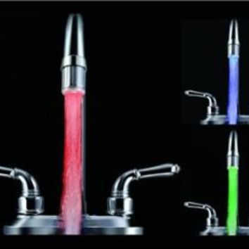 Amazon.com: 01A6 Temperature Sensor Color Changing LED Faucet with Adapter (Silver): Home & Kitchen