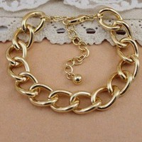 Large Metal Links Chain Bracelet