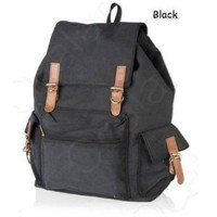 Amazon.com: Black Canvas Backpack School Bag Super Cute for School By JAM Closet: Sports &amp; Outdoors