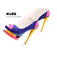 Wholesale Wholesale kvoll womens peep toe hot pumps D63277 - Lovely Fashion