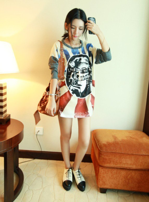 Korean Women Fashion Loo...