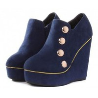 Wholesale Wholesale shoes comfortable women's wedges SY-C2060 blue - Lovely Fashion