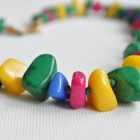 Necklace From Natural Stone Beads, .. on Luulla