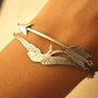 Silver Arrow and Silver Bird by iadornu on Etsy