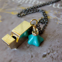 Nostalgic Whistle Necklace - 14K Go.. on Luulla