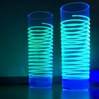 Black Light Hiball Glasses 10.9oz / 310ml | UV Glasses Black Light Tumblers - Buy at Drinkstuff