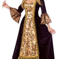 Adult Masquerade Queen Costume - Medieval or Renaissance Costumes