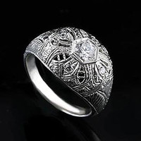 1/4Ct Diamond Filigree Ring 14K White Gold