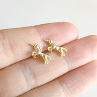 Tiny Unicorn Earrings