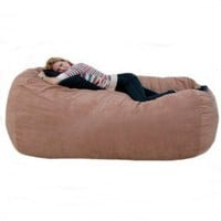 Amazon.com: 7-feet Xx-large Rust Cozy Sac Foof Bean Bag Chair Love Seat: Home & Kitchen