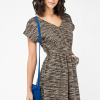 Mother of Purl Dress in Grey Multi :: tobi