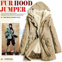 Two-piece Winter Long Coat Hooded-QM-JR0425-1 from VanclStore-Women Clothing