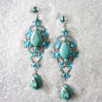 Turquoise Shadows Earrings, Sweet Affordable Jewelry
