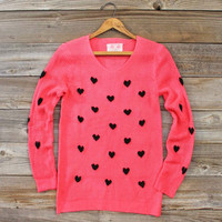 Heart's Content Thermal in Pink, Sweet Bohemian Sweaters