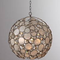 Antiqued Silver-Leaf Chandelier - Horchow