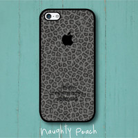 iPhone 5 Case - Dark Grey Cheetah Denim
