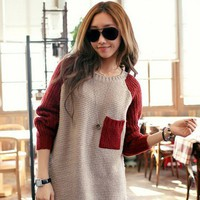 Color Block Pullover in Cream D13