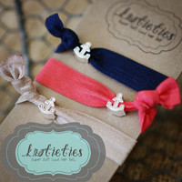 baby anchor sliders-super soft luxe hair ties