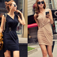 Slim Fit Sleeveless Mini Dress