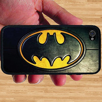 Vintage Dark knight Rises Batman iPhone Case - Rubber Silicone iPhone 4 Case or iPhone 5 Case - Free Screen Protector Included