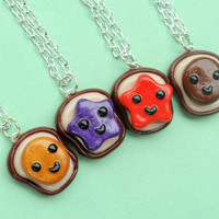 Polymer Clay Best Friends 4 Piece Necklace Set