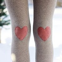 My Valentine Heart Leggings // size extra small