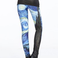 Starry Night (Van Gogh) Cosmic Tights