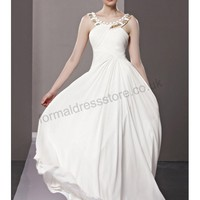 - White Halter Backless Chiffon Homecoming Dress B236  - Prom dresses 2013 |Formaldressstore.co.uk