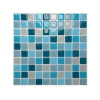 10 in. x 10 in. Multi Colored Peel and Stick Lagoon Mosaic Decorative Wall Tile (1-Pack)-1005 at The Home Depot