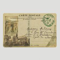 Postcard of Paris Cushion Floor Mat
