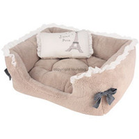 LouisDog pink or beige dog beds Lovely Jubbly House rectangle dog bed