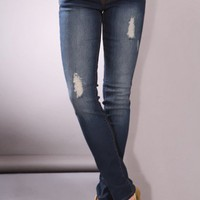 Dark Blue Denim Faded Frayed Front Pockets Skinny Jeans @ Amiclubwear Pants Online Store: sexy pants,sexy club wear,women's leather pants, hot pants,tight pants,sweat pants,white pants,black pants,baggy pants,smarty pants,plastic pants,women's jeans,plaid
