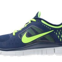Amazon.com: Nike Free Run 3 Navy Electric Green Barefoot Mens Running Shoes 510642-404: Shoes