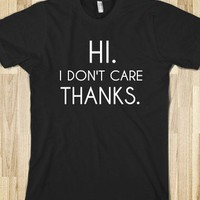 HI. I DON&#x27;T CARE.THANKS - glamfoxx.com