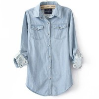 Blue Denim Shirt For Women on Luulla