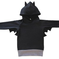 $43.75 Bat Kids Hoodie by PaulandPaulaShop on Etsy