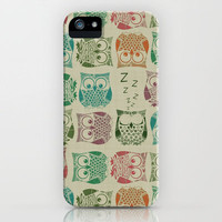 vintage sherbet owls iPhone Case by Sharon Turner | Society6