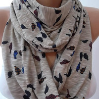 Little sparrow - Elegant and feminine scarf...Infinity Scarf  Circle Scarf  Tube scarf