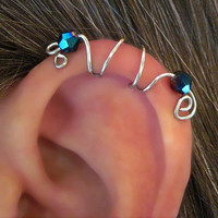1 No Piercing &quot;Seahorse&quot; Ear Cuff Helix Cuff Handmade 1 Cuff COLOR CHOICES