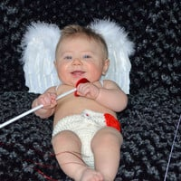 Baby Cupid Heart Diaper Cover - You Pick Colors - Crochet Winter Outfit Newborn Boy Girl Halloween Thanksgiving Photo Prop Accessory