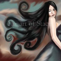 Digital painting Lose yourself woman or goddess by theartofstacy