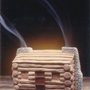 Log Cabin Burner With Pinon Natural Wood Incense - Incienso De Santa Fe