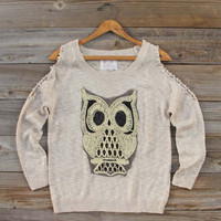 Any-who Owl Sweater, Sweet Bohemian Clothing
