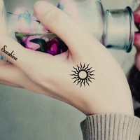 Sunshine Temporary Tattoo