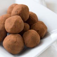 Organic/Fair Trade Heavenly Homemade Delicious RIch Chocolate Truffles dusted in Cocoa Powder - bag of 12