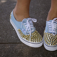 Gold Studded Vans