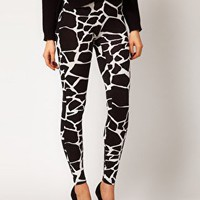 ASOS Legging in Giraffe Print at asos.com
