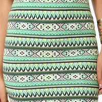 Tribal Print Bodycon Skirt