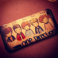 iPhone 5 Adorable Vintage Cartoon One Direction Fan case by VD5555